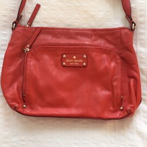Kate Spade Coral Leather Crossbody